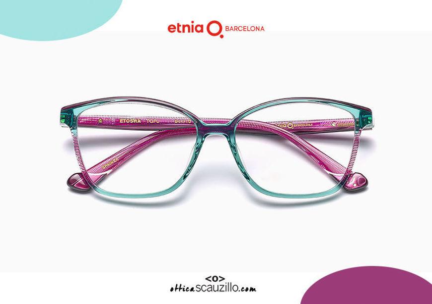 Acquista online su otticascauzillo.com il tuo nuovo occhiale da vista cat eye oversize Etnia Barcelona in acetato ETHOSA col. TQFU