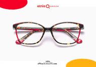 Acquista online su otticascauzillo.com il tuo nuovo occhiale da vista cat eye oversize Etnia Barcelona in acetato ETHOSA col. HVRD